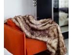 Меховой плед Primavelle Lama коричневый
