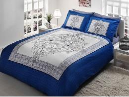Комплект постельного белья TAC Everyday Satin Caron (Синий)