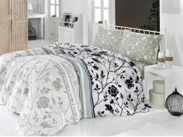 Комплект TAC Brielle Ranforce Modern Flower (серый)