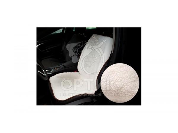 Меховая накидка на кресло автомобиля