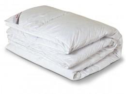Одеяло стеганное из лебяжьего пуха в сатине (200гр.)