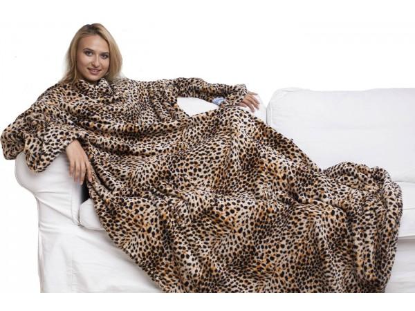 Плед с рукавами (леопард)